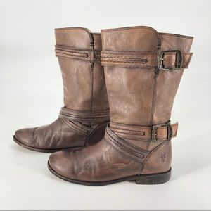 Frye Paige Trapunto buckle boot 6 B